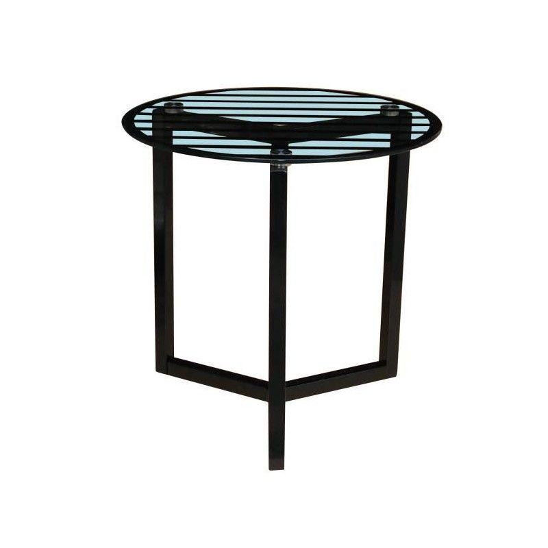 Pedro table basse style contemporain en acier laqu poxy noir et pl for Mobilier laque contemporain table basse