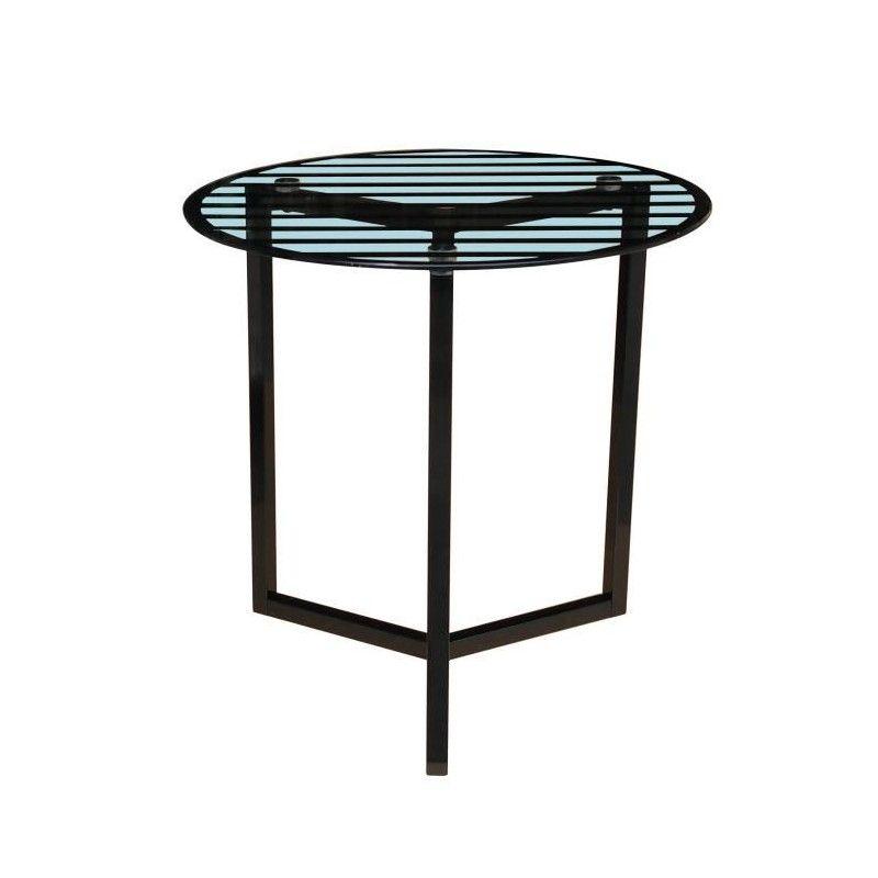 Pedro Table Basse Style Contemporain En Acier Laqu Poxy