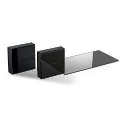 MELICONI GHOST CUBE SHELF Systeme de gestion des câbles - 1 cube et 1 étagere - Poids max : 3 Kg - Noir
