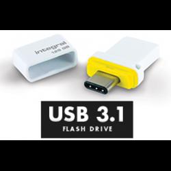 INTEGRAL Clé 16 Go USB 3.1 & Type-C Fusion double Connecteur pour Sauvegarde de Données entre Smartphones, PC,