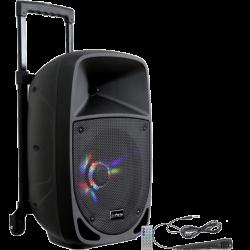 PARTY LIGHT & SOUND PARTY-8LED Enceinte portable 8``/20cm - 300W avec USB/FM/Micro/Bluetooth