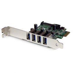 StarTech Tarjeta Adaptador PCI-E USB 3.0 con UASP de 4 Puertos Sata