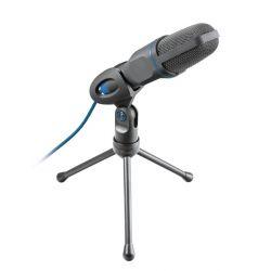 Trust Mico Noir, Bleu Microphone de PC
