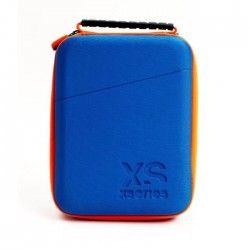 XSories - UNIVERSAL CAPXULE SMALL - Housse de rangement pour caméra ou appareil électronique, filet de rangement, poignée, Bleue