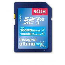 Integral INSDX64G-260/100U2 mémoire flash 64 Go SD UHS-II