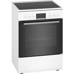 Bosch Serie 4 HKR39I120 four et cuisinière Plaque avec zone à induction Noir, Blanc A