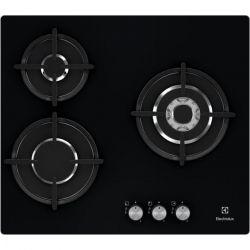 Electrolux EGT6633NOK plaque Noir Intégré (placement) Gaz 3 zone(s)
