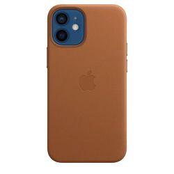 Coque en cuir Apple MagSafe pour iPhone 12 mini Havane