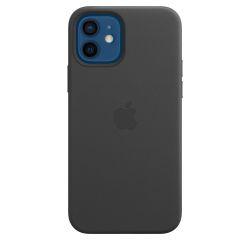 Coque en cuir Apple MagSafe pour iPhone 12 et 12 Pro Noir