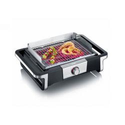 Severin PG 8113 BOOST Grill Dessus de table Electrique Noir, Argent 3000 W