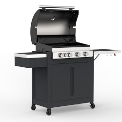 Barbecook Stella 4311 Barbecue Chariot Gaz Noir 14500 W