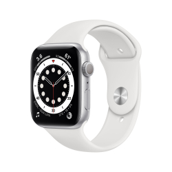 Apple Watch Series 6 40 mm OLED Argent GPS (satellite)