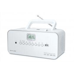 Muse M-28RDW Système stéréo portable Numérique 3 W Blanc