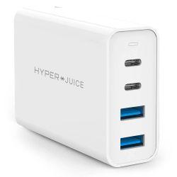 Chargeur de voyage HyperDrive 100W 2 USB-C et 2 USB 3.0 Blanc