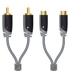 Sinox 5m RCA câble audio Gris