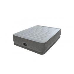 Lit gonflable électrique Intex Comfort Plush 2 place Gris