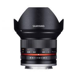 Samyang 12mm F2.0 NCS CS SLR Objectif large Noir