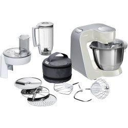 Bosch MUM58L20 robot de cuisine 1000 W 3,9 L Gris, Acier inoxydable, Blanc