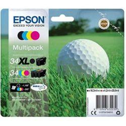 Pack de Cartouche d'encre Epson Golf noir XL+3 couleurs
