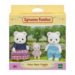 La famille d'ours polaires Sylvanian Families