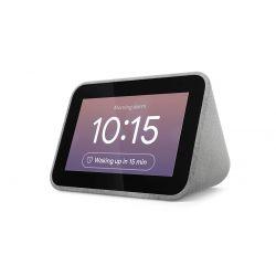 """Réveil connecté Lenovo Smart Clock 4"""" Gris avec Google Assistant"""