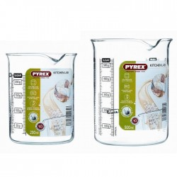 PYREX Set de 2 doseurs Kitchen Lab 0,25 l + 0,5 l transparent