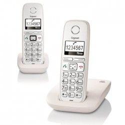 Gigaset E310 Comfort DUO Téléphone Sans Fil Ecran Blanc Senior