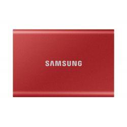 Disque SSD Externe Samsung Portable T7 500 Go USB 3.2 Rouge métallique