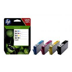 HP 364 pack de 4 cartouches d'encre noir/cyan/magenta/jaune authentiques