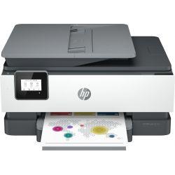 Imprimante Tout-en-un HP OfficeJet 8014e Gris et blanc