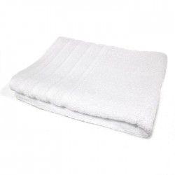 DOUCEUR D'INTERIEUR Drap de bain 100% coton Vitamine 90x150 cm blanc
