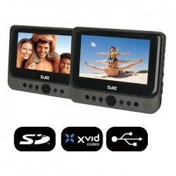 D-JIX PVS 702-59LDP Double Lecteur DVD portable 2 écrans