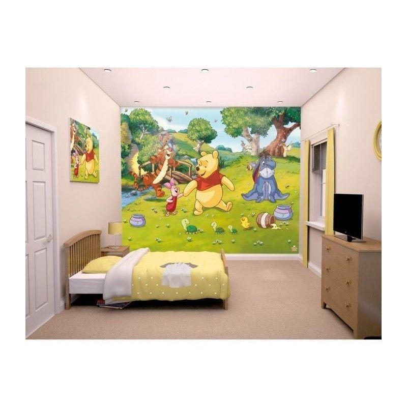 Winnie l 39 ourson fresque murale 2 45x3 00 m pour enfant for Decoration murale winnie l ourson