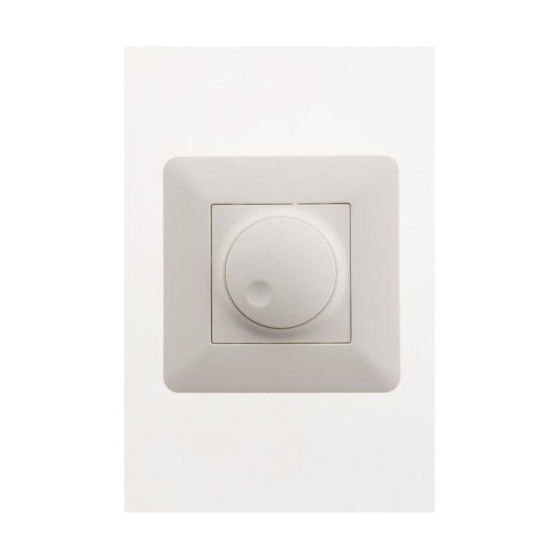 artezo interrupteur variateur rotatif compatible led blanc. Black Bedroom Furniture Sets. Home Design Ideas