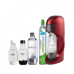 SODASTREAM MÉGA PACK DYNAMO Rouge + 4 bouteilles + 1 cylindre