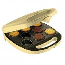 BESTRON DKP2828 Appareil a cupcakes - Jusqu'a 8 en meme temps - Jaune Pastel