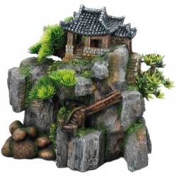 AQUA DELLA Décor Korean-Cottage - 23x13,5x22cm - Pour aquarium
