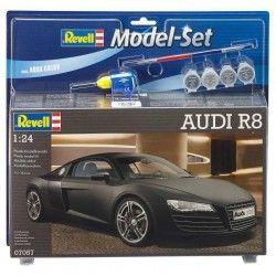 REVELL Model Set AUDI R8 Maquette a Construire, a Coller et a Peindre, Avec Accessoires