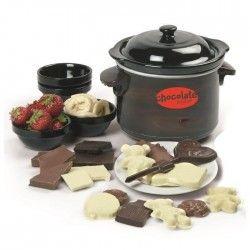 DOMO DO915CH - Fondue a chocolat avec moules ? 70W ? Noir/Marron