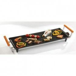 DOMO DO8301TP Plancha familiale ? 66 x 27 cm ? Noir/Orange