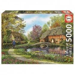 EDUCA Puzzle 5000 Pieces - Les Chaumieres Fleuries