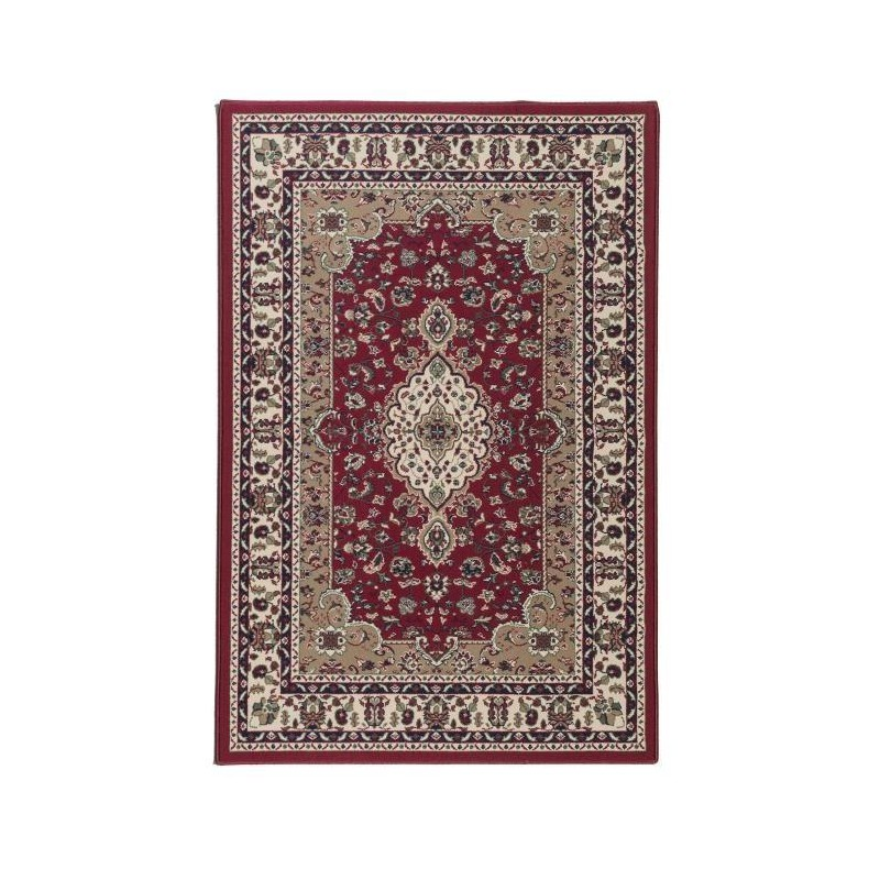 Luxus tapis de salon oriental rouge 160x225 cm - Tapis de salon rouge ...