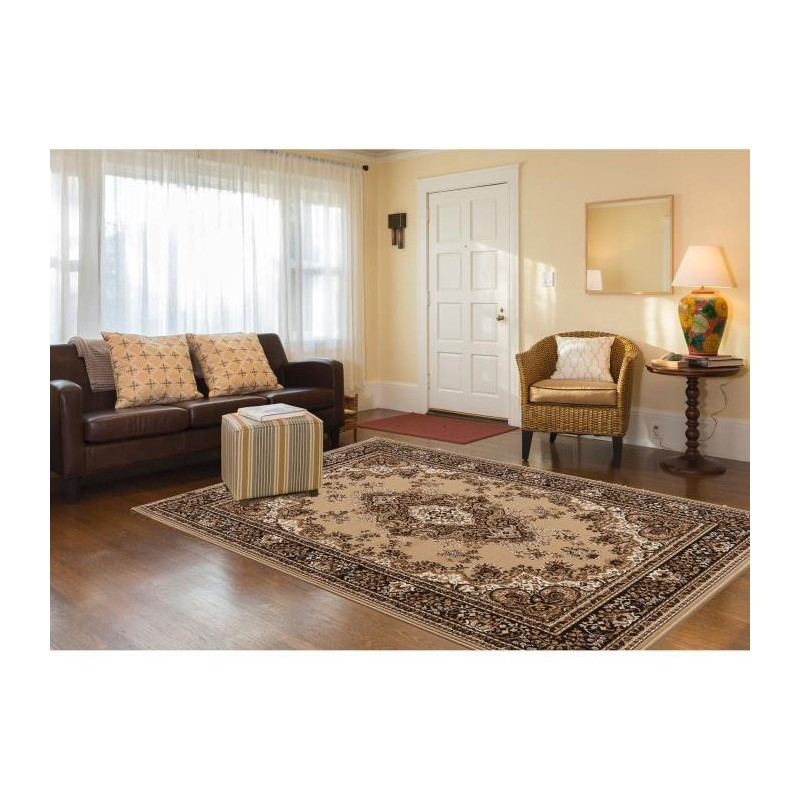 luxus tapis de salon oriental beige 200x290 cm. Black Bedroom Furniture Sets. Home Design Ideas