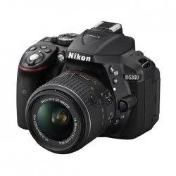NIKON D5300 Appareil photo numérique Reflex + Objectif 18-55mm VR II - Noir