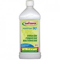 SANITERPEN Désinfectant 90 haute performance - Pour l'habitat, les véhicules et matériel de transport des animaux - 1 L