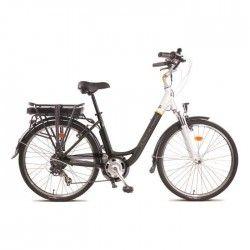 TOUR DE FRANCE Vélo Éléctrique City alu 6 vitesses Shimano 36V 8.8ah Lithium