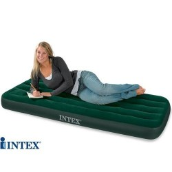 INTEX Matelas Camping Gonfleur Pied Incorpore 1 Place