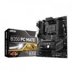 MSI Carte mere B350 PC MATE - Socket AM4 - DDR4 - 3200+ (OC) MHz - B350 PC MATE