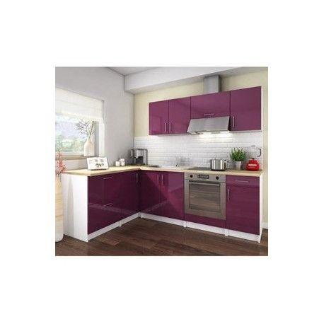 COSY Cuisine complete 280 cm laqué aubergine