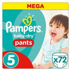 Pampers Baby-Dry Pants Taille 5 11-18 kg - 72 Couches-culottes